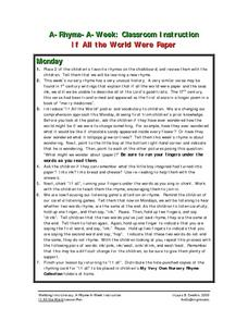 If All The World Were Paper Lesson Plan