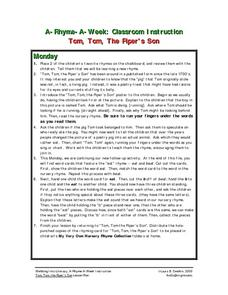 Tom, Tom, The Piper's Son Lesson Plan