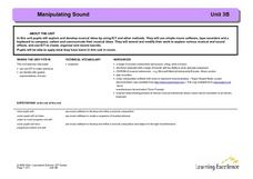 Manipulating Sound Lesson Plan