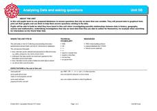 Analyzing Data and Asking Questions Lesson Plan
