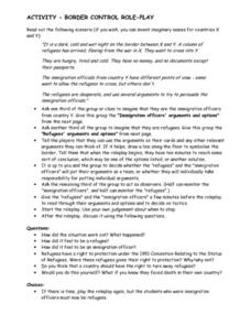 Border Control Role-Play Lesson Plan