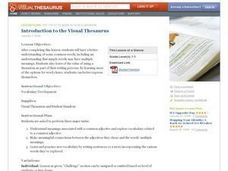 Introduction to the Visual Thesaurus Lesson Plan