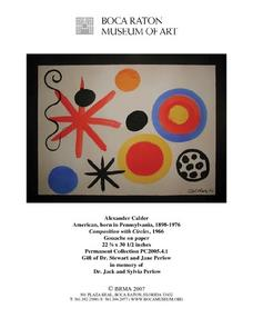 Composition with Circles by Alexander Calder Lesson Plan