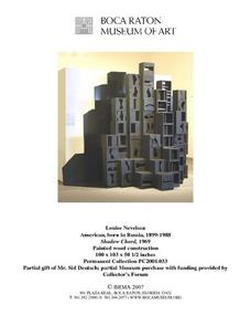 Shadow Chord by Louise Nevelson Lesson Plan