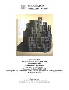 Louise Nevelson Lesson Plan