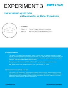 The Burning Question A Conservation of Matter Experiment Lesson Plan
