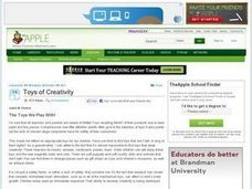 Toys of Creativity Lesson Plan