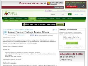 Animal Friends: Feelings Toward Others Lesson Plan