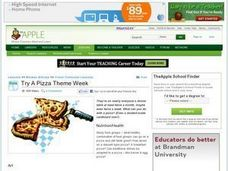 Try A Pizza Theme Week Lesson Plan