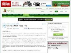 Create a Math Road Trip Lesson Plan