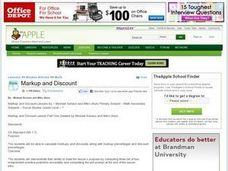 Markup and Discount Lesson Plan