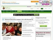 Science Discovery Lesson: Air is All Around Us Lesson Plan