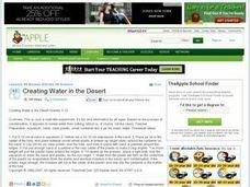 Creating Water in the Desert Lesson Plan