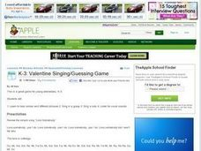 Valentine Singing/Guessing Game Lesson Plan