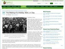 The Making of a Holiday: MLK, Jr. Day Lesson Plan