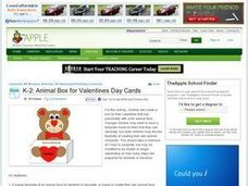 Animal Box for Valentines Day Cards Lesson Plan