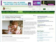 Holiday Writing Prompts Lesson Plan