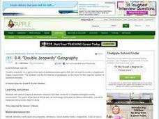 "Double Jeopardy"" Geography Lesson Plan"