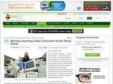 Service-Learning Links Curriculum to the Read World Lesson Plan