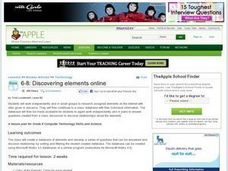 Discovering Elements Online Lesson Plan
