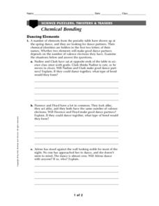 Science Puzzlers, Twisters, and Teasers: Chemical Bonding Worksheet