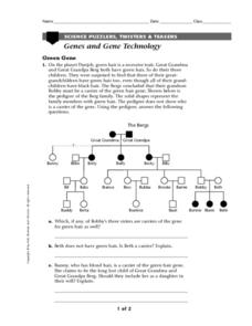 Genes and Gene Technology Worksheet