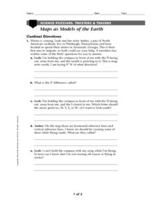 Maps As Models of The Earth Worksheet