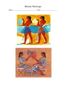 Minoan Paintings Worksheet