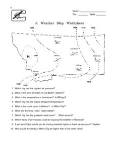 A Weather Map Worksheet Lesson Plan