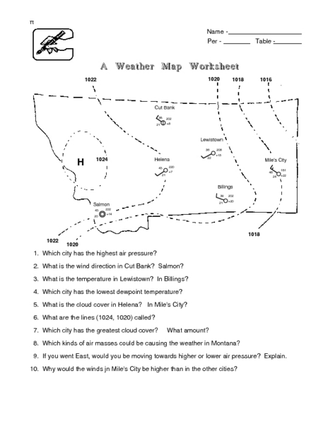 a weather map worksheet lesson plan for 6th 8th grade lesson planet. Black Bedroom Furniture Sets. Home Design Ideas
