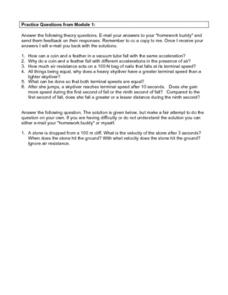 Science Practice Questions Worksheet