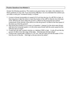 Practice Questions Module Three Worksheet