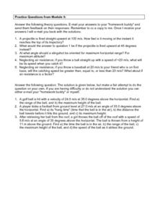 Science Questions Module 5 Worksheet