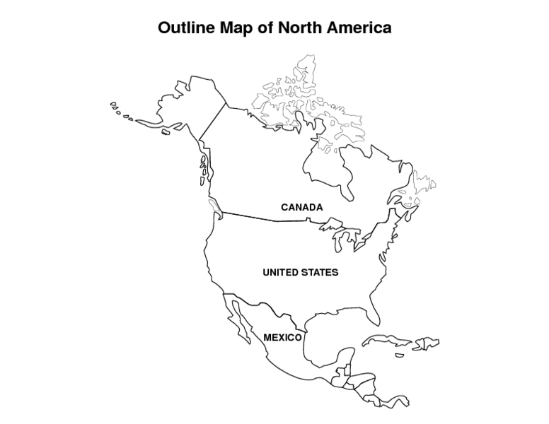 Handy image within printable map of north and south america