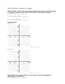 Introduction to Graphing Lesson Plan