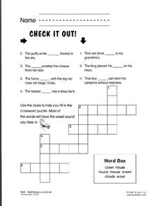 Check It Out Worksheet