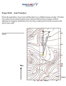 project map scale worksheet worksheet for 7th 11th grade lesson planet. Black Bedroom Furniture Sets. Home Design Ideas