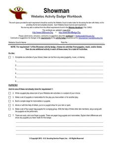 Showman Webelos Activity Workbook Worksheet