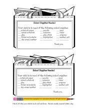 School Supplies Needed Worksheet Lesson Plan