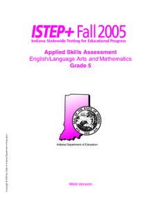 Indiana Applied Skills Assessment Sample Lesson Plan