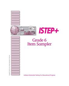 ISTEP + Grade 6 Item Sampler Lesson Plan