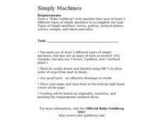 Simply Machines Worksheet