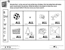 Making Words Using Beginning Sounds Worksheet