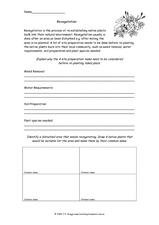 Revegetation Worksheet