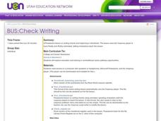 Check Writing Lesson Plan