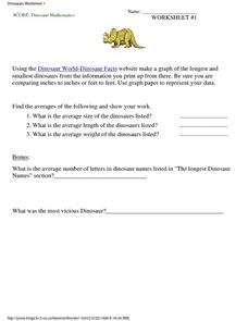 Dinosaur Mathematics Lesson Plan