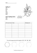 Spelling 21 Worksheet