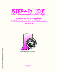 Indiana State Testing Review Worksheet