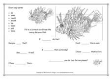 Every Day Words: Sight Word Practice Worksheet