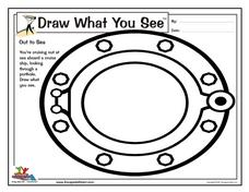 Draw What You See: Out to Sea Worksheet